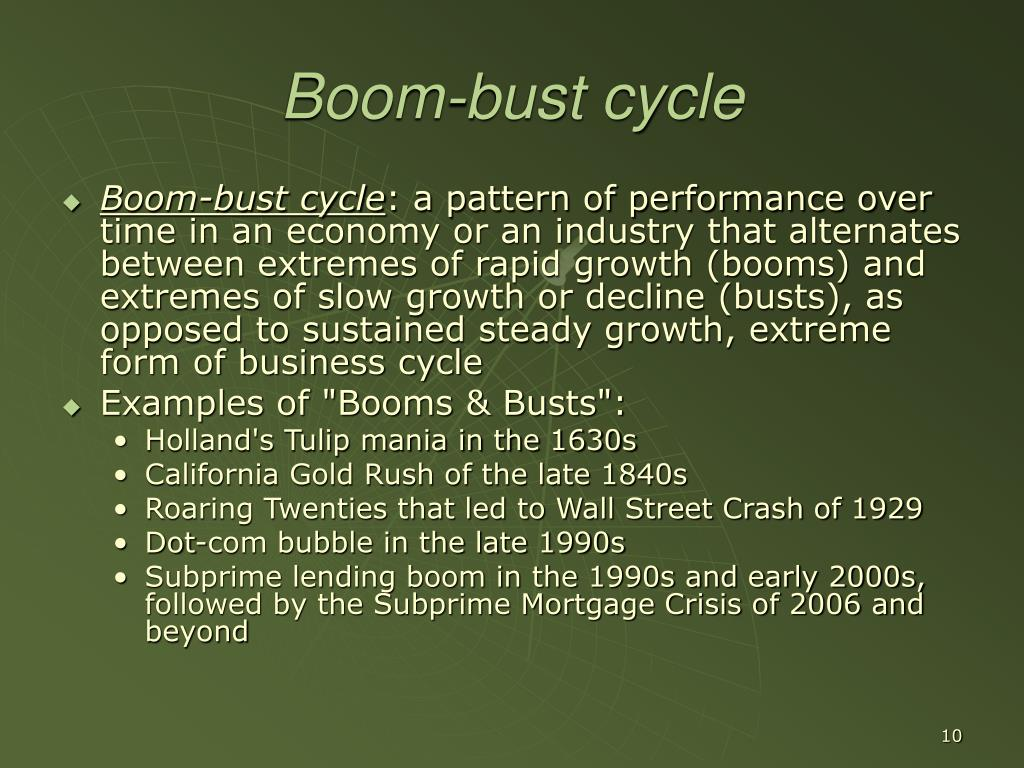 Boom-bust cycle