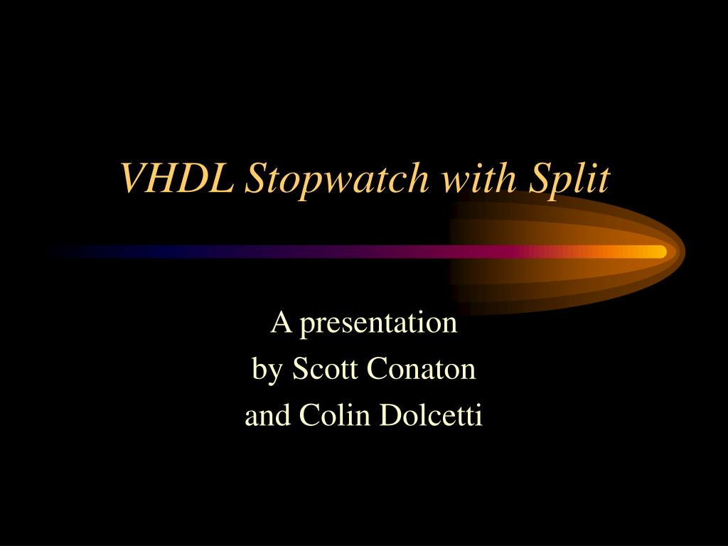 vhdl stopwatch with split l.