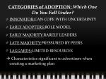 categories of adoption which one do you fall under