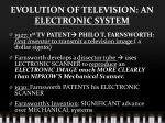 evolution of television an electronic system