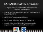 expansion of the medium