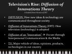 television s rise diffusion of innovations theory