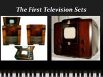 the first television sets