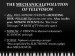 the mechanical evolution of television