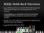 wwii holds back television