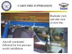cabin fire suppression