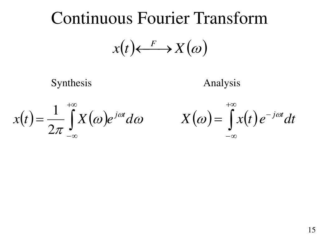 Continuous Fourier Transform