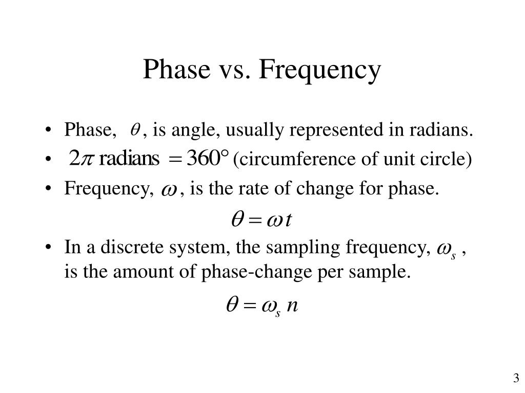 Phase vs. Frequency