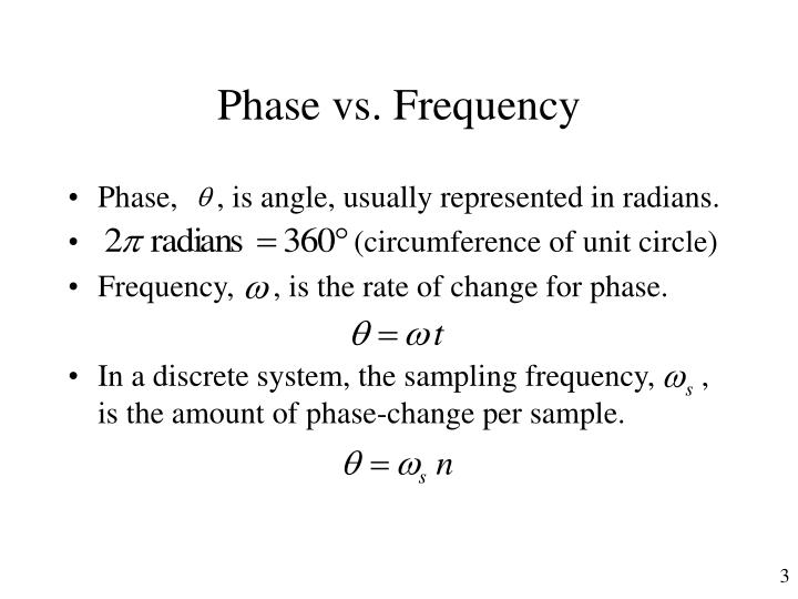 Phase vs frequency
