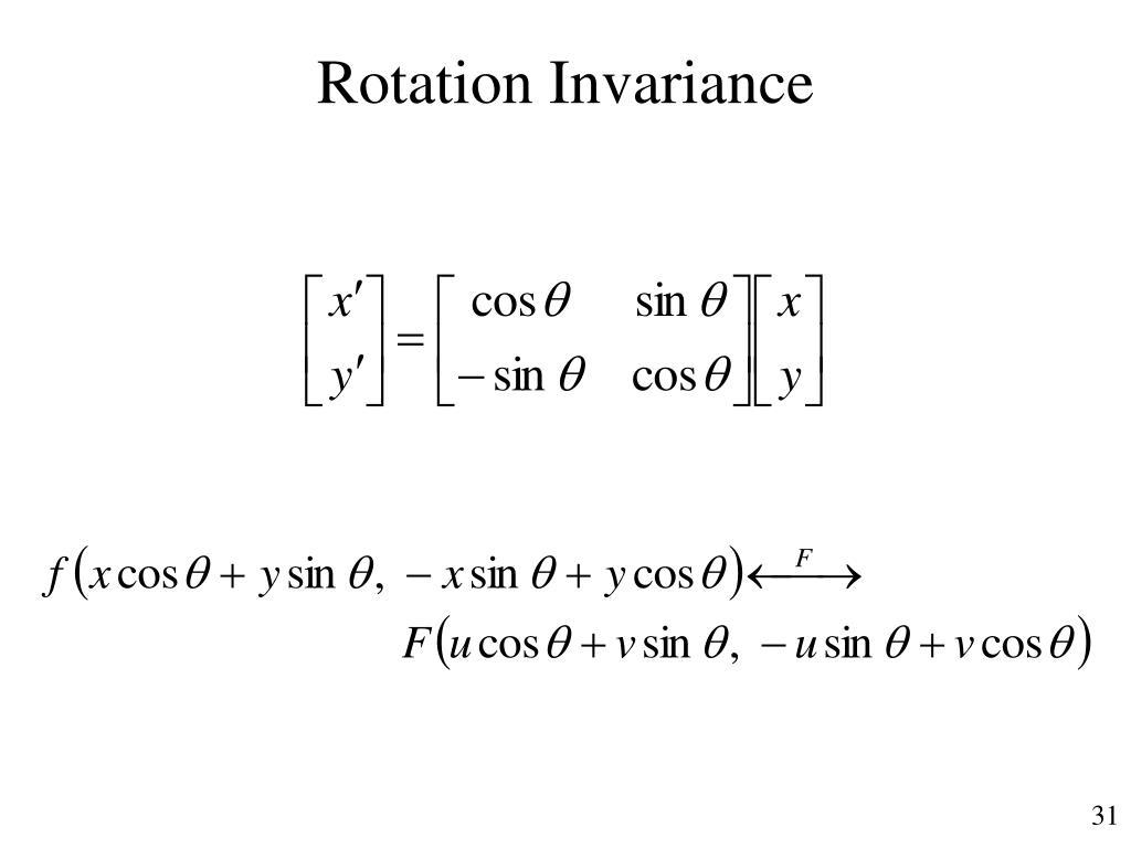 Rotation Invariance