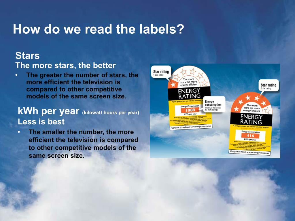 How do we read the labels?