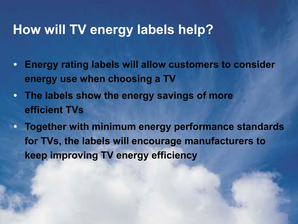 How will TV energy labels help?