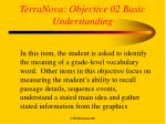 terranova objective 02 basic understanding