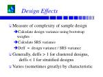design effects