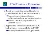 nphs variance estimation