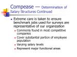compease determination of salary structures continued