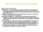 review of the rice sector contd7
