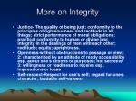 more on integrity