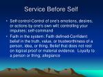 service before self8