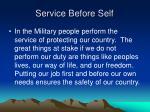 service before self9