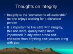 thoughts on integrity