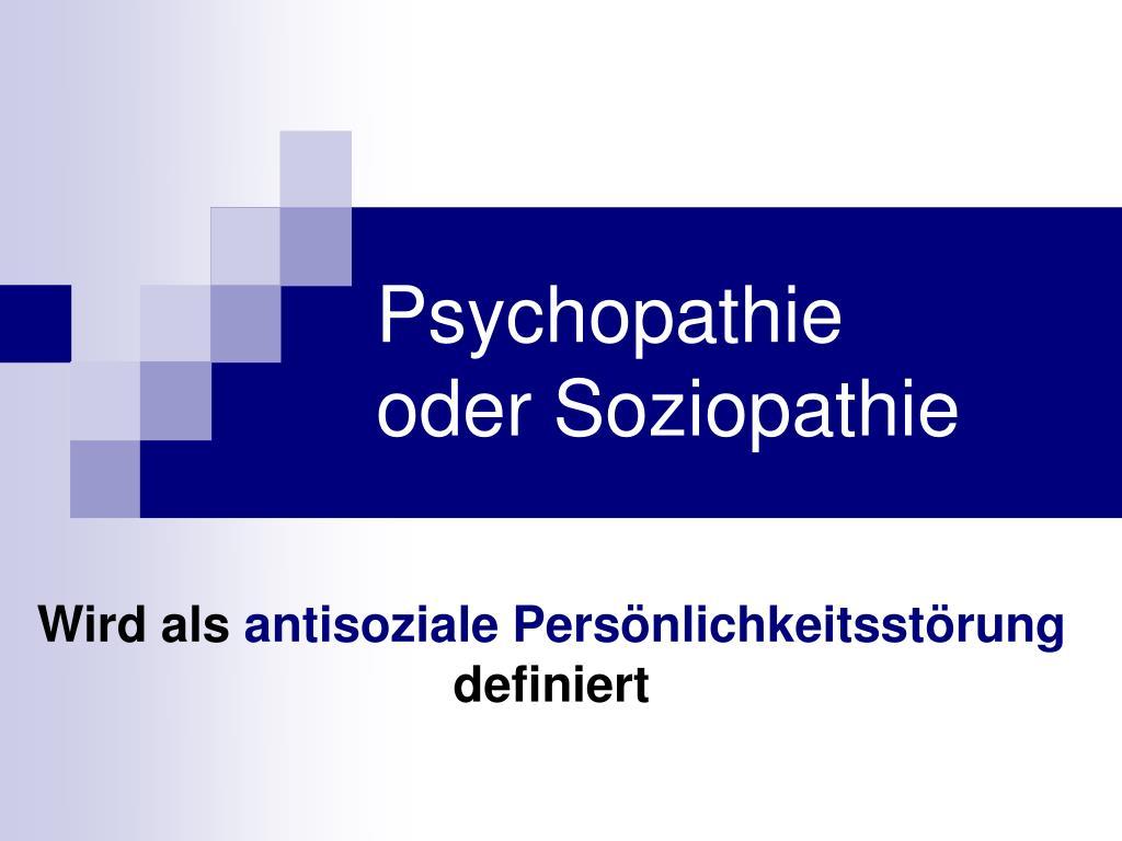 psychopathie oder soziopathie l.