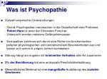 was ist psychopathie