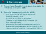 5 proyecciones