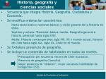 historia geograf a y ciencias sociales