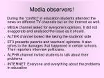 media observers