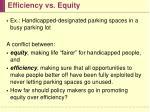 efficiency vs equity