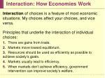 interaction how economies work