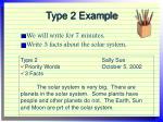 type 2 example