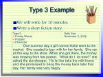 type 3 example