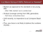 is a macro sizing of xbrl relevant or needed