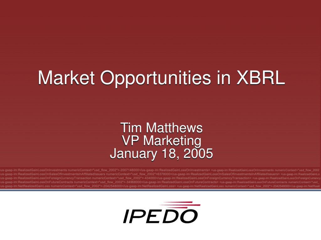 market opportunities in xbrl l.