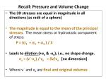 recall pressure and volume change