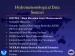 hydrometeorological data sources