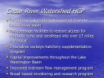 cedar river watershed hcp