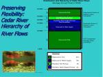 preserving flexibility cedar river hierarchy of river flows