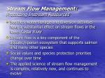 stream flow management protecting instream resources