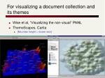 for visualizing a document collection and its themes