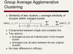 group average agglomerative clustering