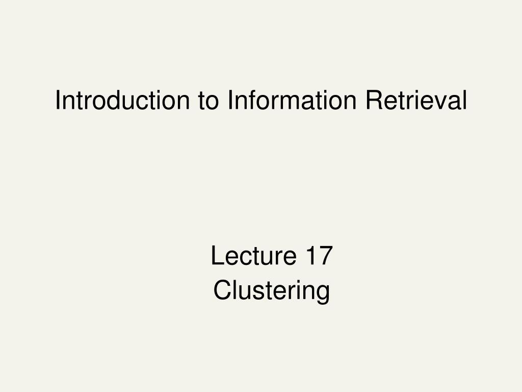 introduction to information retrieval l.