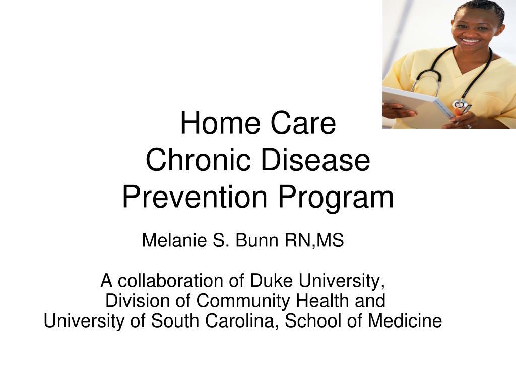 home care chronic disease prevention program l.
