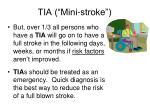 tia mini stroke