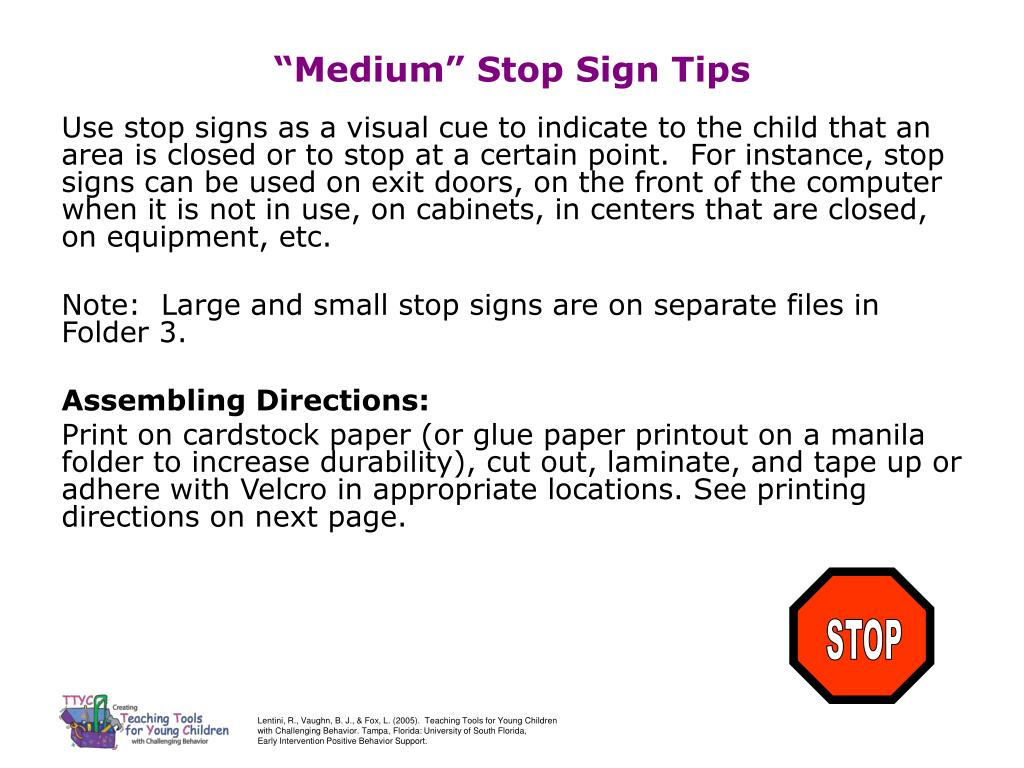 medium stop sign tips l.