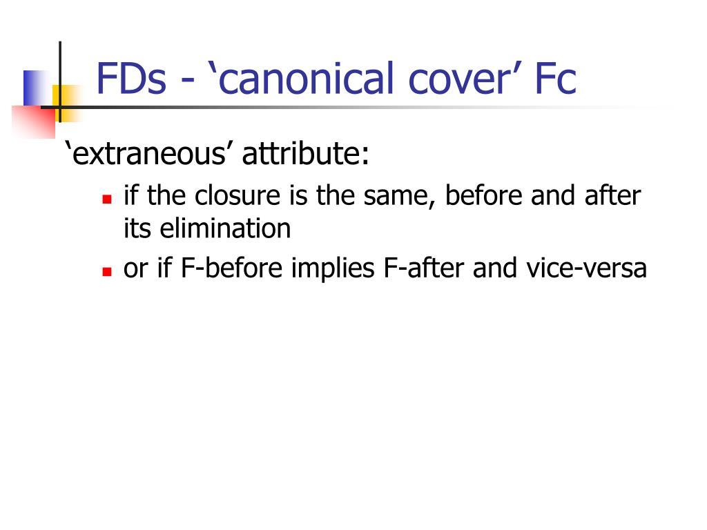 'extraneous' attribute: