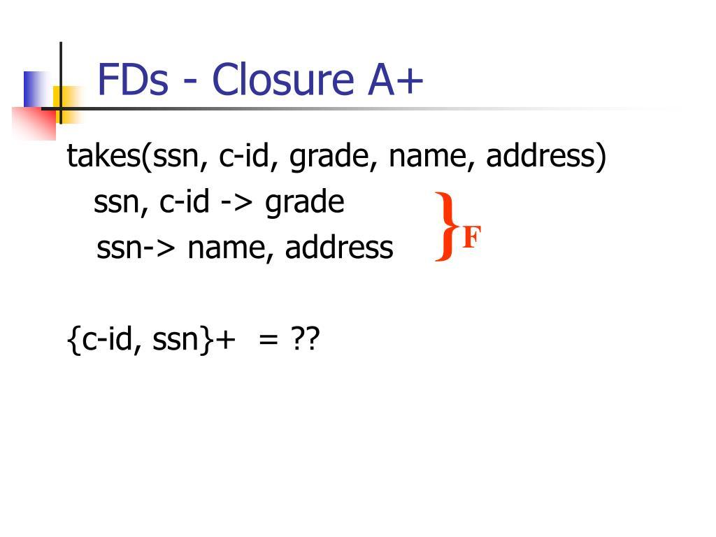 FDs - Closure A+