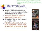 peter lynch cont